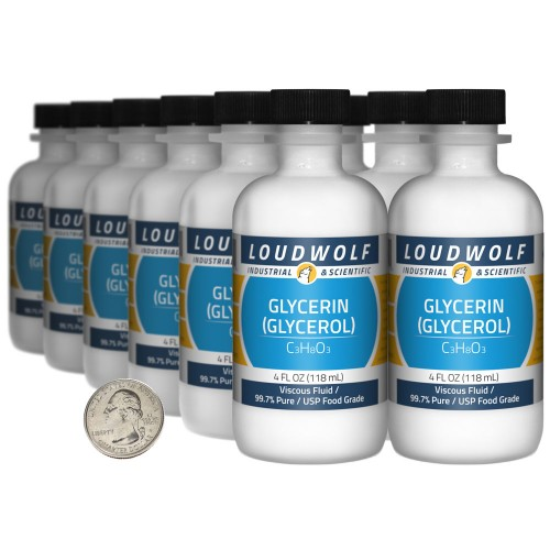 Glycerin (Glycerol) - 48 Fluid Ounces in 12 Bottles