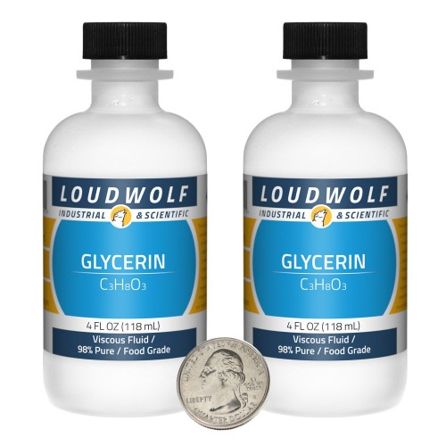 Glycerin - 8 Ounces in 2 Bottles