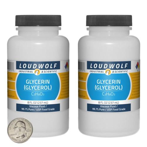 Glycerin (Glycerol) - 16 Fluid Ounces in 2 Bottles