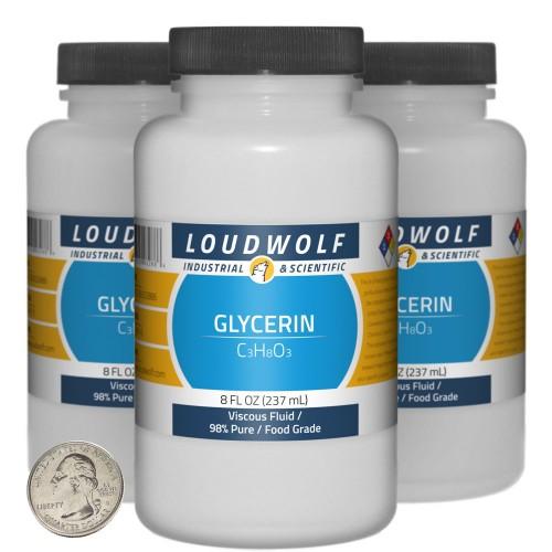 Glycerin - 1.5 Pounds in 3 Bottles