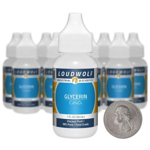 Glycerin - 10 Ounces in 10 Bottles