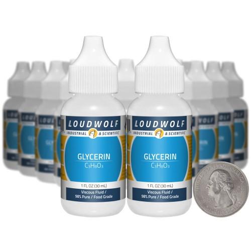 Glycerin - 1.3 Pounds in 20 Bottles