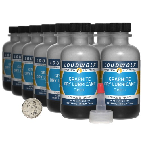 Graphite Dry Lubricant - 1.5 Pounds in 12 Bottles