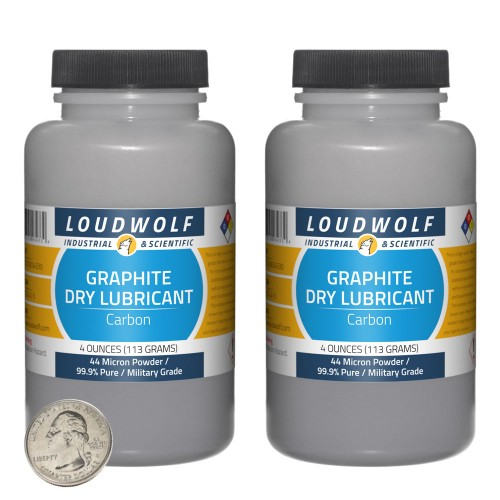 Graphite Dry Lubricant - 8 Ounces in 2 Bottles