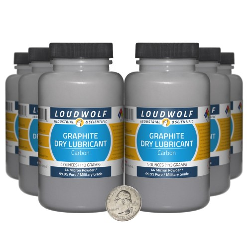 Graphite Dry Lubricant - 1.5 Pounds in 6 Bottles