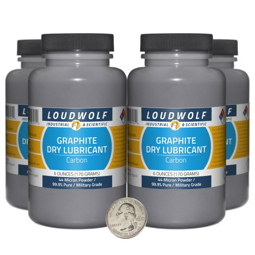 Graphite Dry Lubricant - 1.5 Pounds in 4 Bottles