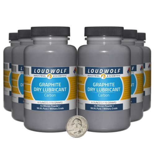 Graphite Dry Lubricant - 2.3 Pounds in 6 Bottles