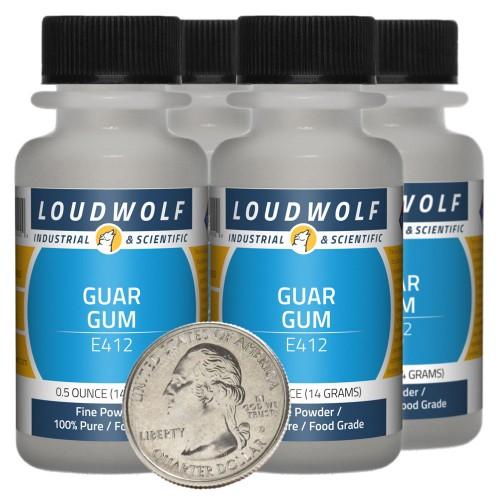 Guar Gum - 2 Ounces in 4 Bottles