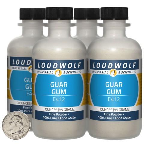 Guar Gum - 12 Ounces in 4 Bottles