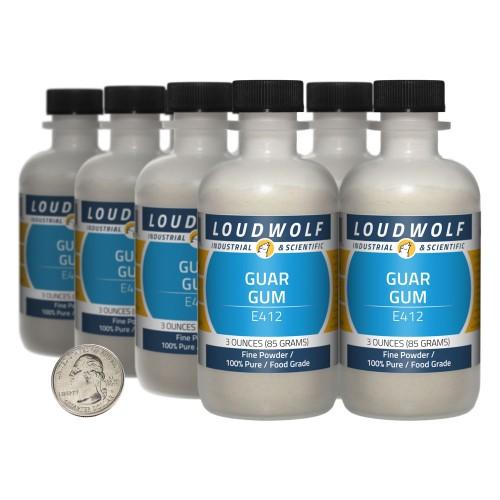 Guar Gum - 1.5 Pounds in 8 Bottles