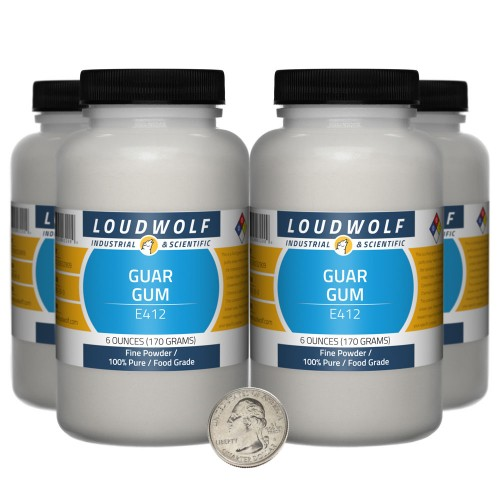 Guar Gum - 1.5 Pounds in 4 Bottles