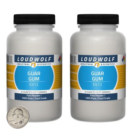 Guar Gum - 1 Pound in 2 Bottles