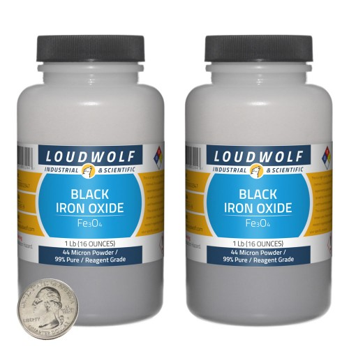 Black Iron Oxide - 2 Pounds in 2 Bottles
