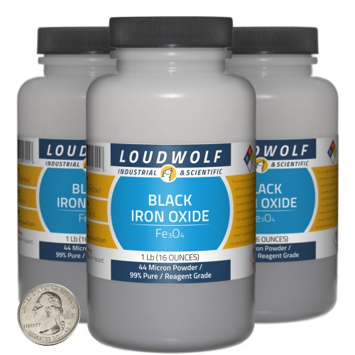 Black Iron Oxide - 3 Pounds in 3 Bottles