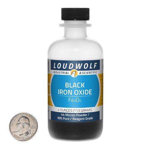 Black Iron Oxide - 4 Ounces in 1 Bottle