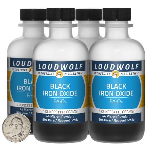 Black Iron Oxide - 1 Pound in 4 Bottles
