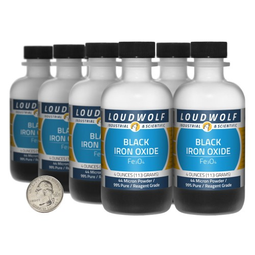 Black Iron Oxide - 2 Pounds in 8 Bottles