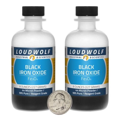 Black Iron Oxide - 1 Pound in 2 Bottles