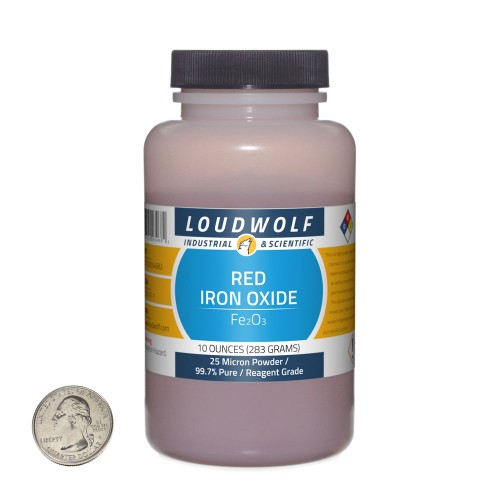 Red Iron Oxide - 10 Ounces in 1 Bottle