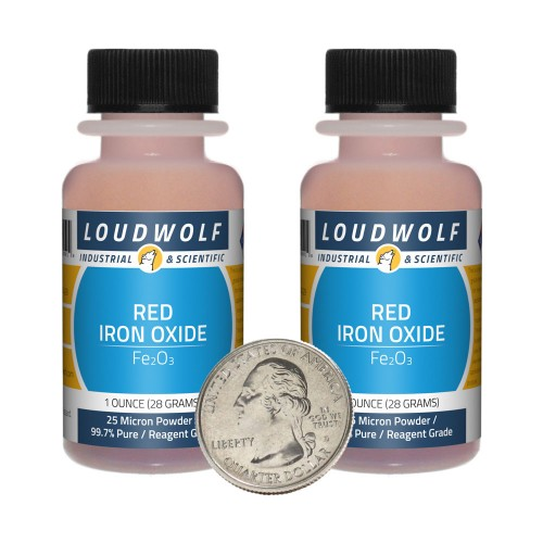 Red Iron Oxide - 2 Ounces in 2 Bottles