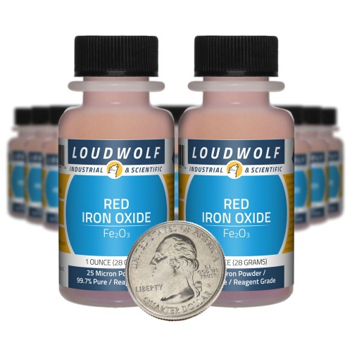 Red Iron Oxide - 1.3 Pounds in 20 Bottles