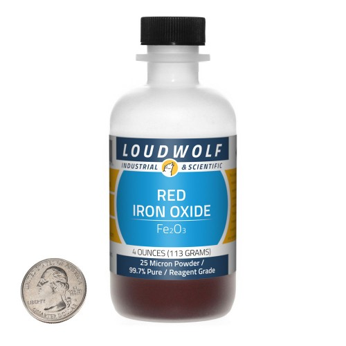 Red Iron Oxide - 4 Ounces in 1 Bottle
