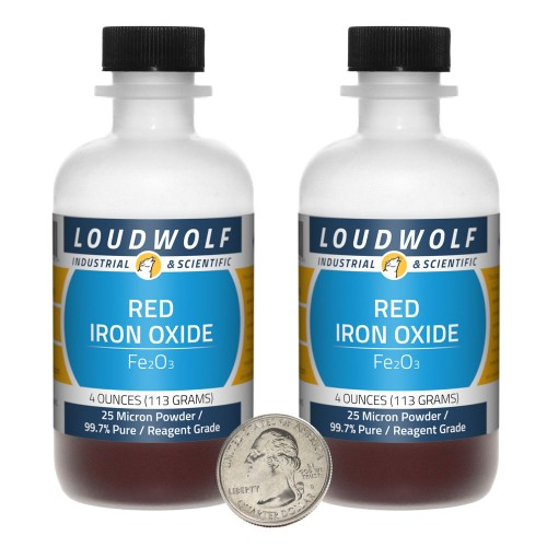 Red Iron Oxide - 8 Ounces in 2 Bottles