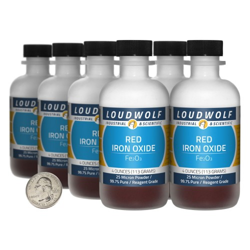 Red Iron Oxide - 2 Pounds in 8 Bottles
