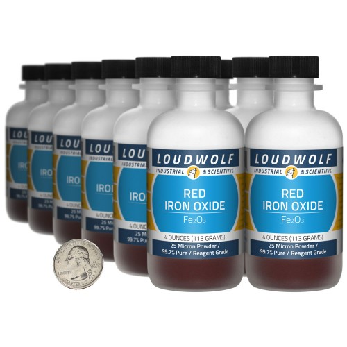 Red Iron Oxide - 3 Pounds in 12 Bottles