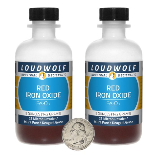 Red Iron Oxide - 10 Ounces in 2 Bottles