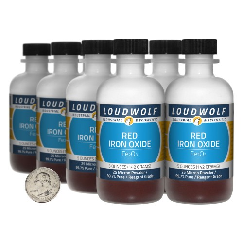 Red Iron Oxide - 2.5 Pounds in 8 Bottles