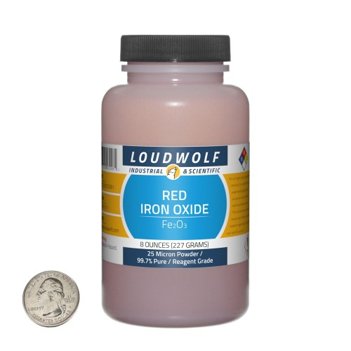 Red Iron Oxide - 8 Ounces in 1 Bottle
