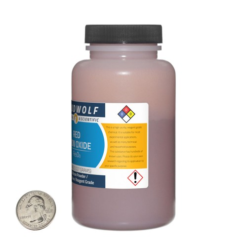 Red Iron Oxide - 2 Pounds in 4 Bottles