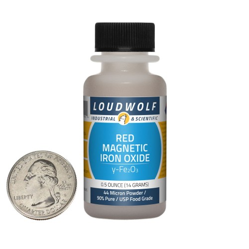 Red Magnetic Iron Oxide - 0.5 Ounces in 1 Bottle