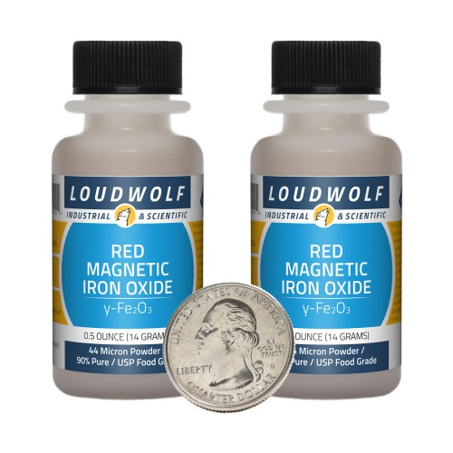 Red Magnetic Iron Oxide - 1 Ounce in 2 Bottles