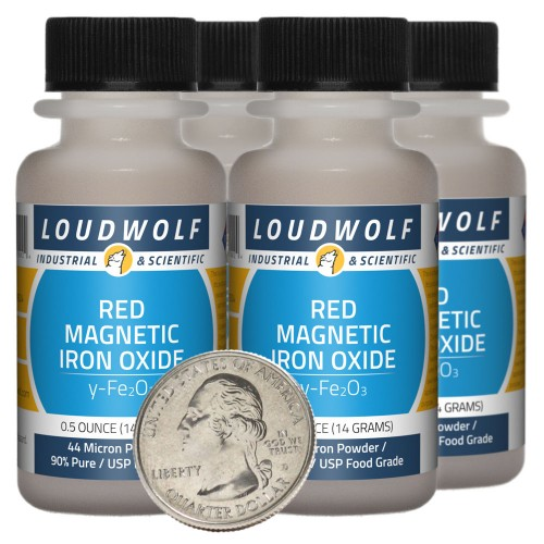 Red Magnetic Iron Oxide - 2 Ounces in 4 Bottles