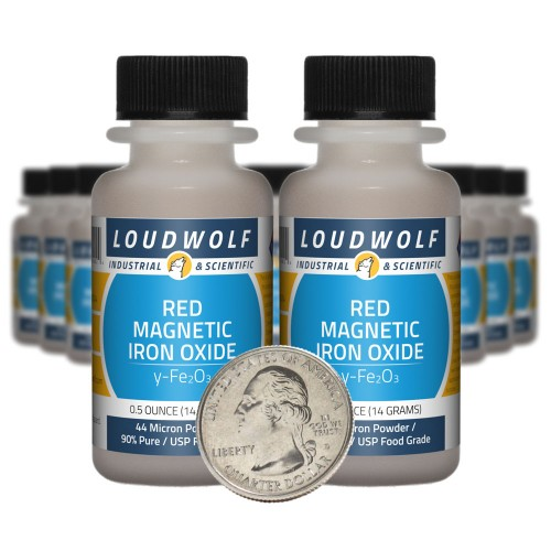 Red Magnetic Iron Oxide - 10 Ounces in 20 Bottles