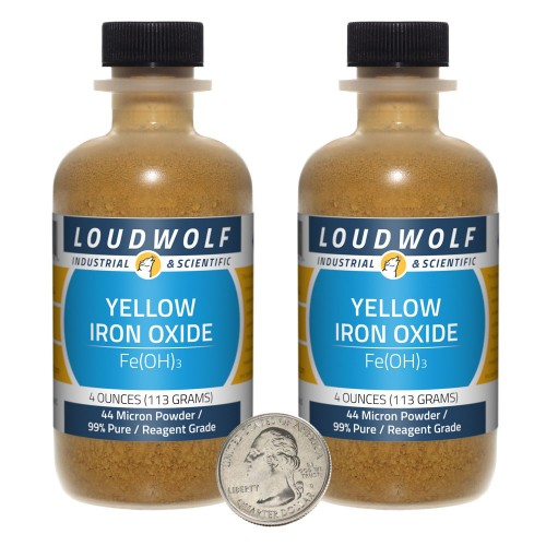 Yellow Iron Oxide - 8 Ounces in 2 Bottles