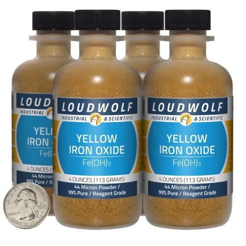 Yellow Iron Oxide - 1 Pound in 4 Bottles
