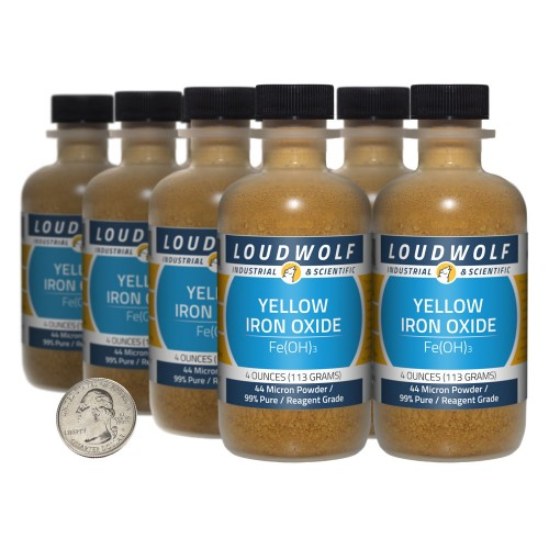 Yellow Iron Oxide - 2 Pounds in 8 Bottles