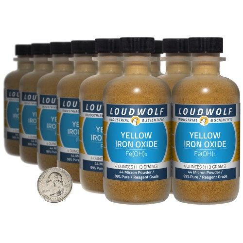Yellow Iron Oxide - 3 Pounds in 12 Bottles