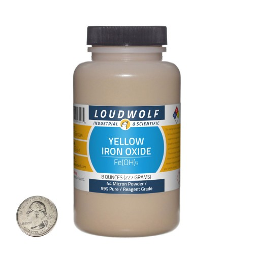 Yellow Iron Oxide - 8 Ounces in 1 Bottle