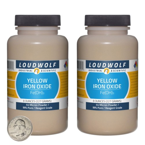 Yellow Iron Oxide - 1 Pound in 2 Bottles