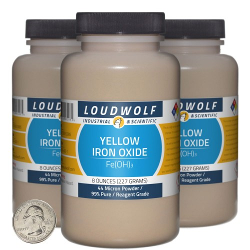 Yellow Iron Oxide - 1.5 Pounds in 3 Bottles