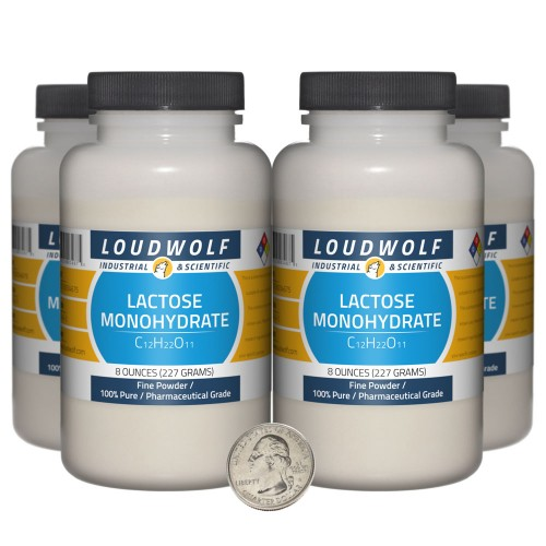 Lactose Monohydrate - 2 Pounds in 4 Bottles