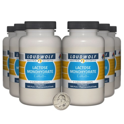 Lactose Monohydrate - 3 Pounds in 6 Bottles