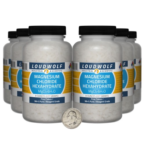 Magnesium Chloride Hexahydrate - 3 Pounds in 6 Bottles