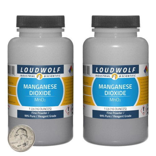 Manganese Dioxide - 2 Pounds in 2 Bottles