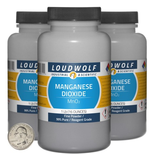 Manganese Dioxide - 3 Pounds in 3 Bottles