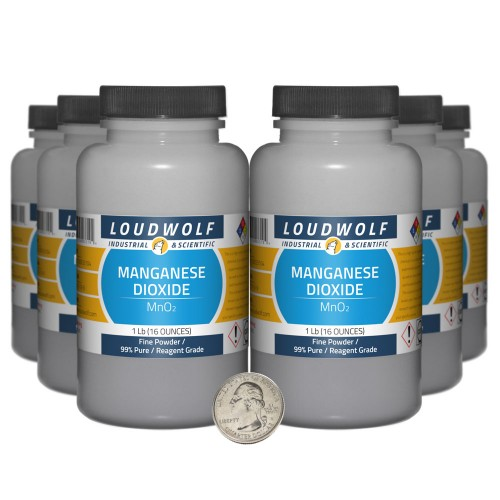 Manganese Dioxide - 6 Pounds in 6 Bottles